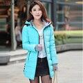 Frete grátis clothing feminino 2016 novas mulheres jaqueta de inverno para baixo jaqueta de algodão parkas magros das senhoras coats tamanho m-xxl 55hfx
