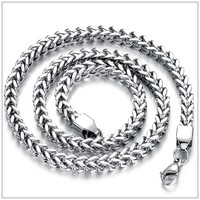 56cm*6mm 70g Hot Sale Cool Silver Stainless Steel Shinning Fashion Chian Men's Boy's Popular Necklaces,High Quality Lowest Price