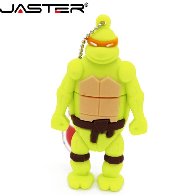 JASTER  Hot Selling Lovely Cartoon Ninja Turtles Pendrive 4GB 8GB 16GB 32GB 64GB  Memory Stick U Disk Fashion Gifts