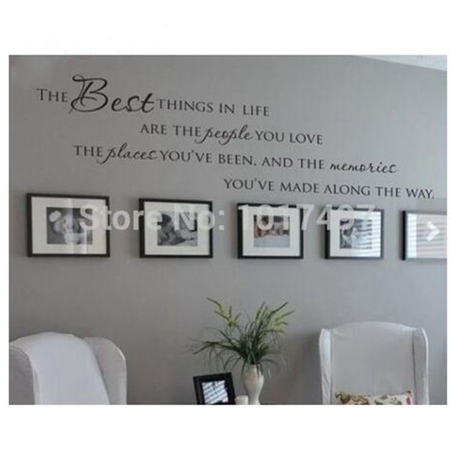 The best things in life vinyl wall decals love memories for Home decor quotes on wall