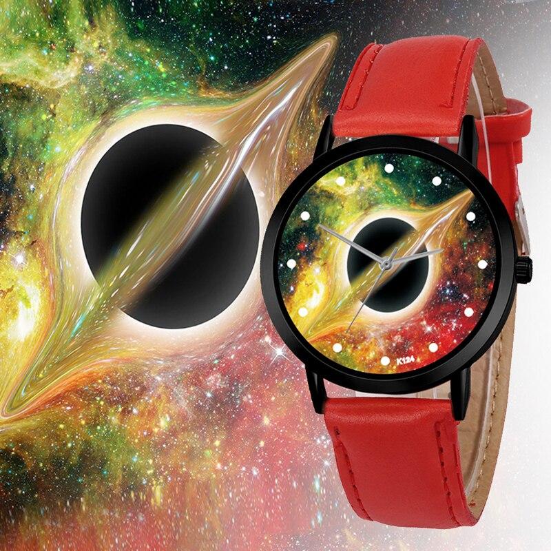 Unique Solar Leather Strap Astronomy Planets Casual Quartz Space System Watch Unisex Classy Creative Analog Watches Quartz Watches Men's Watches