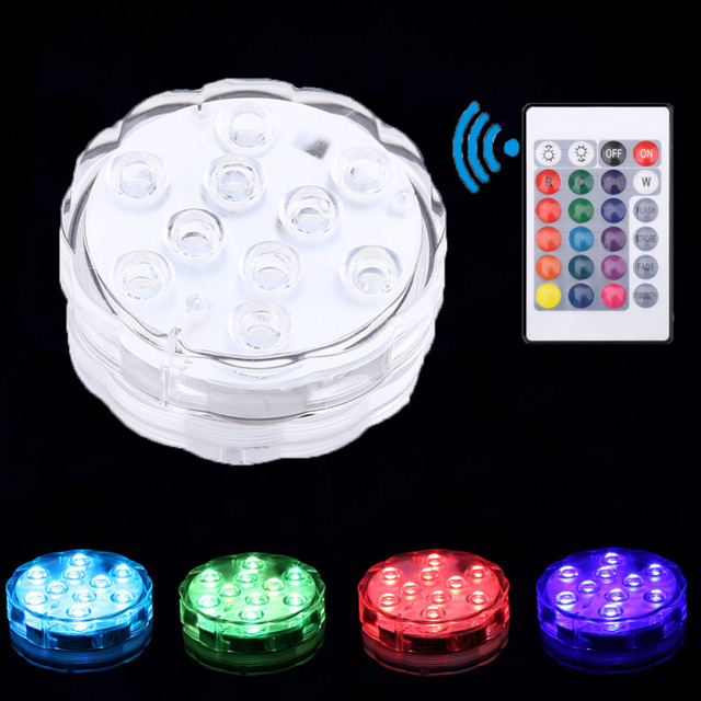 New Swimming Pool Light Holiday Decoration Of Submersible Led Multicolor Waterproof Rgb For Wedding Party Fish Tank