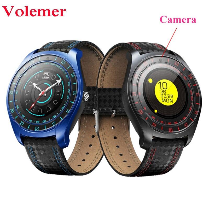 V10 montre intelligente hommes femmes podomètre Support SIM TF carte caméra fréquence cardiaque Smartwatch montre téléphone pour Android PK Q18 DZ09