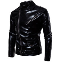 New Retro Motorcycle Jacket Men Moto Jackets Leather Classic Vintage Faux Clothing