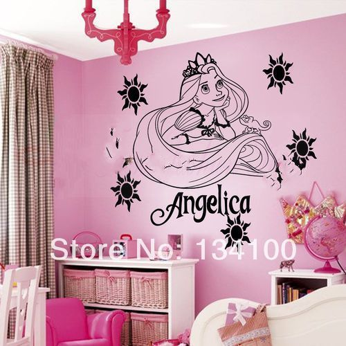 Customer made Personalized name Princess RAPUNZEL TANGLED Wall