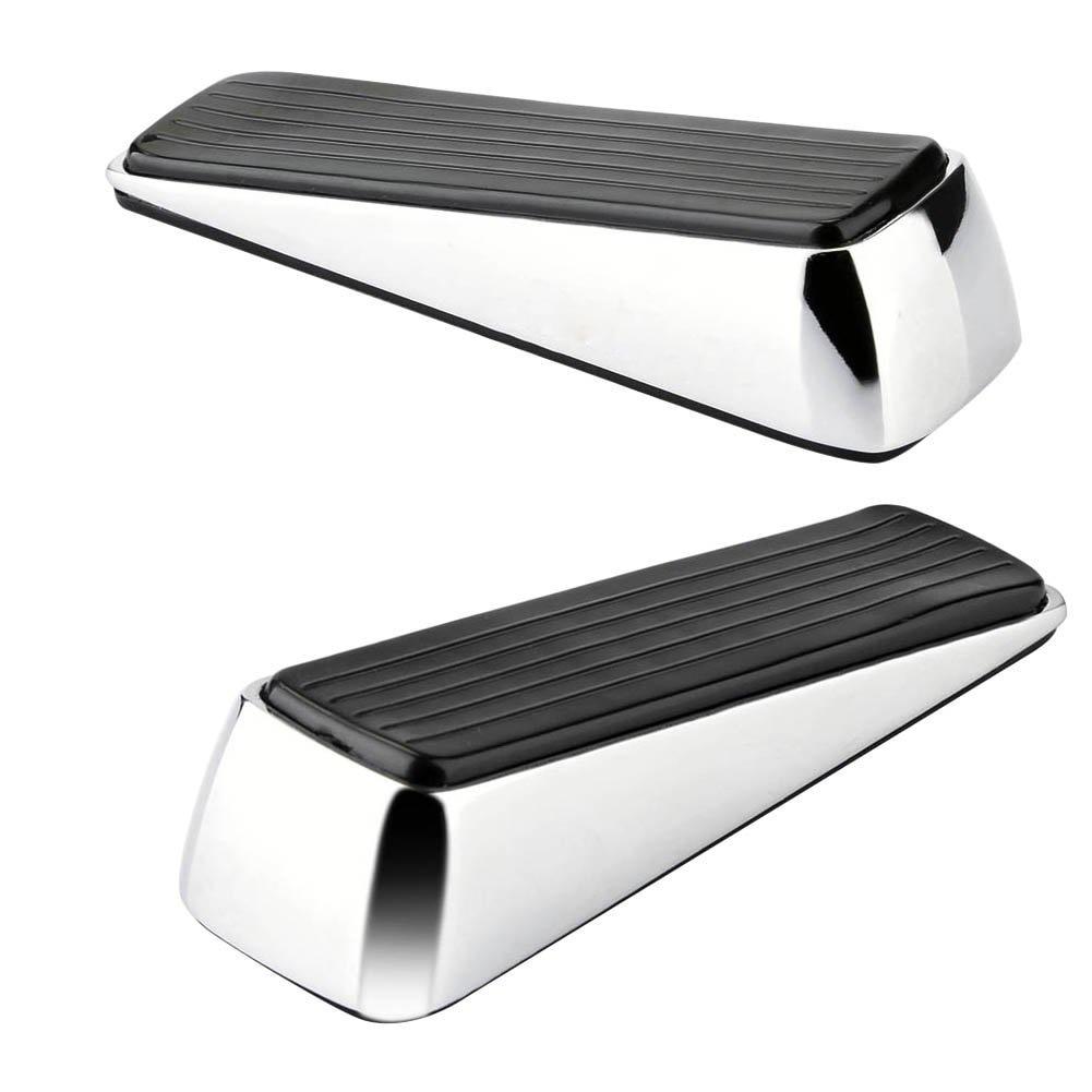 2x Doorstop / Door Buffers Made of Zinc alloy and Rubber, Non-Slip, Robust Door Wedge, Black цены онлайн