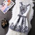 Nueva bottoming dress mujeres del estilo del verano maxi boho dress vintage vestidos de partido atractivo más tamaño hembra ropa bodycon túnica lw153