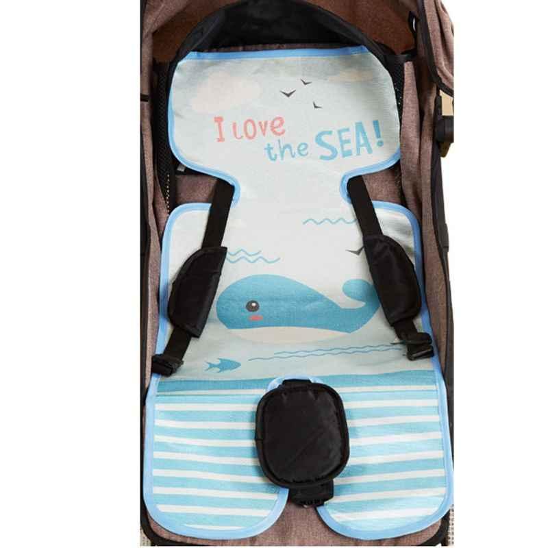 ฤดูร้อน Sleeping Mat Breathable รถเข็นเด็กทารกที่นอนรถเข็นรองเม้าส์รถเข็นเด็กรถเข็นเก้าอี้สูงที่นั่งรถเข็นเด็ก Pram อุปกรณ์เสริม