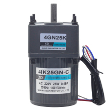 цена на 4IK25GN-C 220V AC gear motor, 25W high torque micro motor, slow single-phase induction AC motor