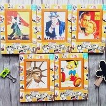 5packs/lotto Vintage biglietto da visita set Biglietto di Auguri Cartoline Regalo Di Compleanno Set di Carte Messaggio di Carta