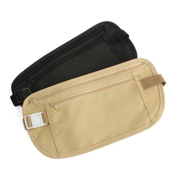 Fashion Cloth Travel Pouch Hidden Wallet Passport Money Waist Belt Bag Slim Secret Security Useful Travel Bag