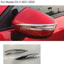 Автомобиль палку заднего вида сбоку стекло зеркала отделкой рамки лампа бровей 2 шт. для Mazda CX-3 CX3 2017 2018 2019