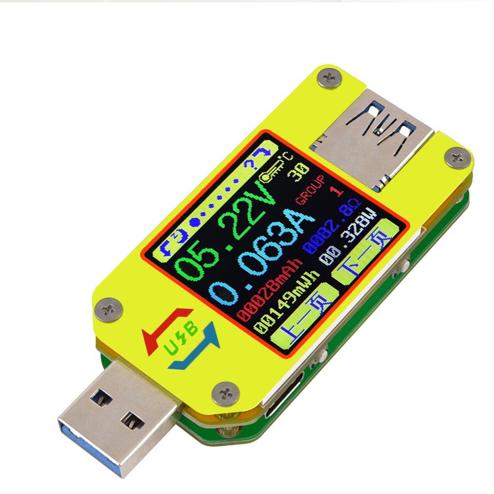 UM34/UM34C For APP USB 3.0 Type-C Voltmeter Ammeter Voltage Current Meter Battery Charge Measure Cable Resistance Tester