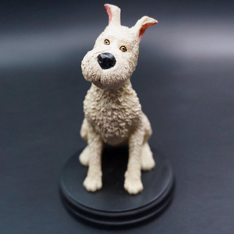 Anime Cartoon 10cm Milou DogThe Adventures Of Tintin Resin Action Figures Collectible Model For Kid Boy Gir Christmas Gift