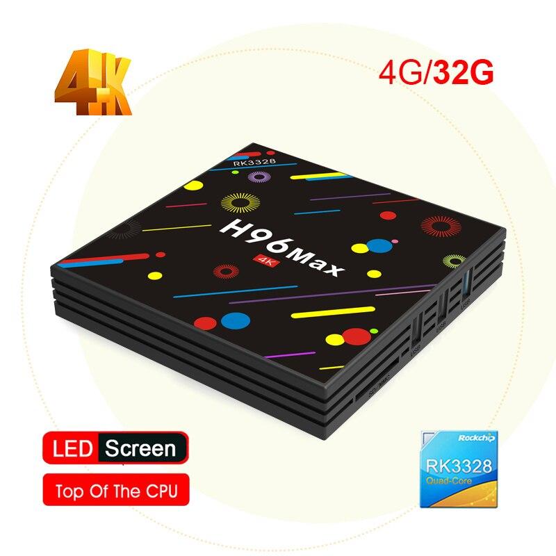 H96 Max H2 Android 7.1 TV Box Rockchip RK3328 Quad Core 4GB 32GB BT 4.0 4K Set Top Box 2.4G 5G WiFI USB 3.0 Media Player цены