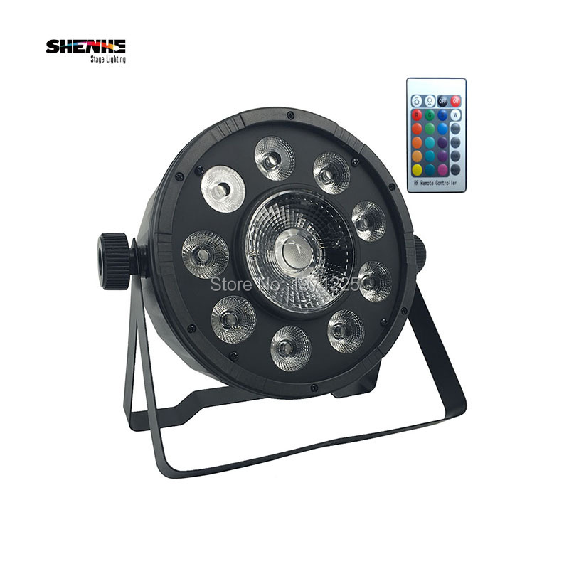 Promotional Packaging Wireless Remote Control LED Fat Par 9X10W+1X30W RGB 3IN1 Stage DJ Light DMX512 Bars Party Night Lamp remote rgb control waterproof 100% plastic led night light
