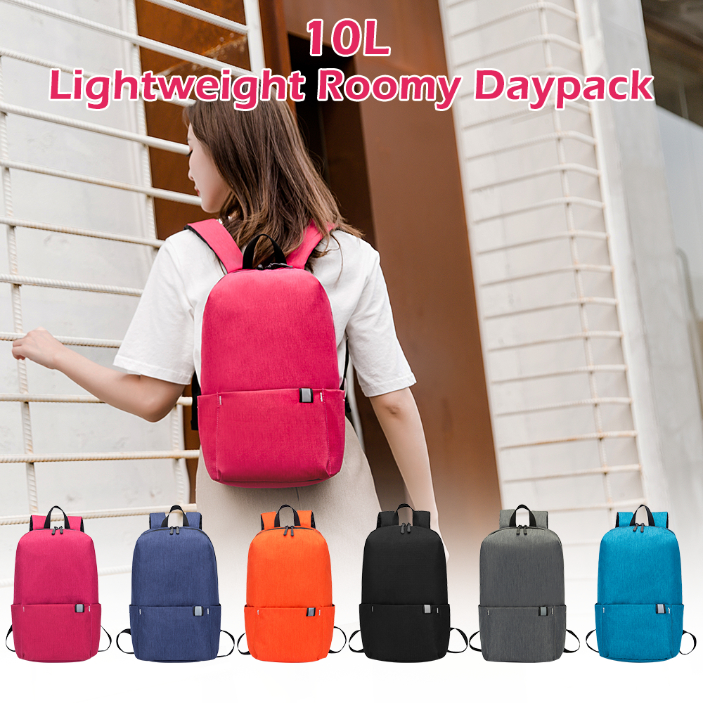 10L Backpack Waterproof Fitness Bag Sports Bag Women's Spacious Backpack Travel Camping Bag red one size 12