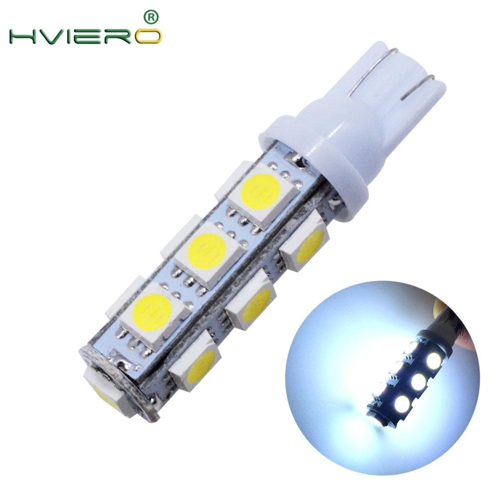 1pcs White 13 SMD 5050 13LED 13Smd 194 168 192 Auto Auto Side Light Bulb LED Wedge Lamp DC 12V Wholesale