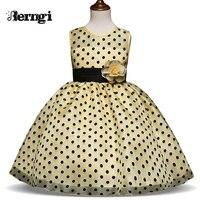 Новый Дизайн Дети платье для Обувь для девочек в горошек Обувь для девочек Классическая праздничное платье принцессы свадебные костюмы для...