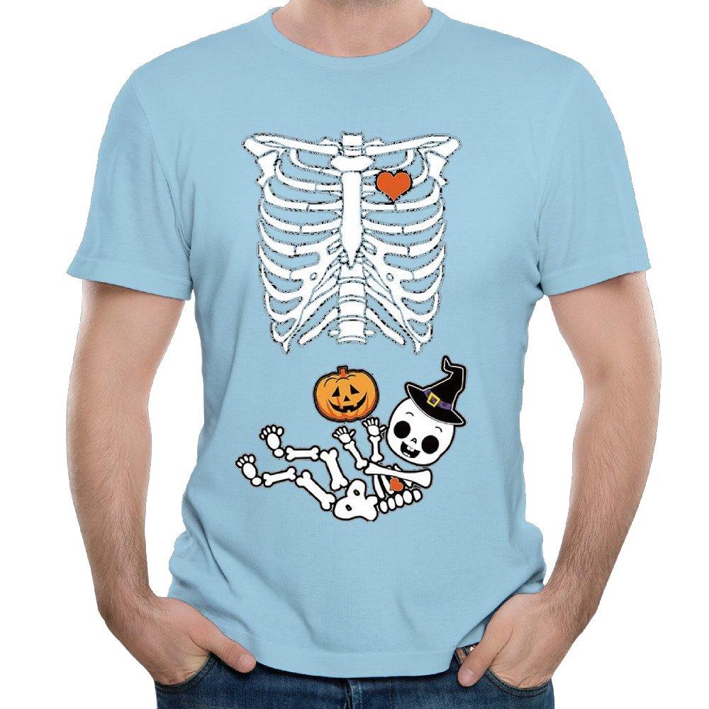 halloween baby skeleton maternity 2017 summer men's t shirt-in t