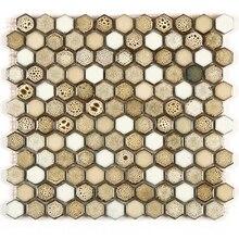 Kepinfy DIY мозаичная плитка фарфоровая Экологически чистая керамика подгоняется для ванной комнаты и кухни, брызги