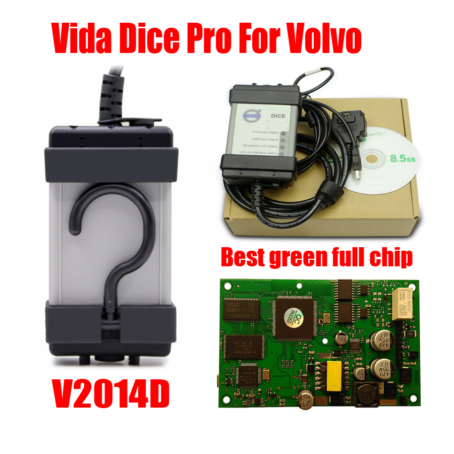 Meilleur Diagnostic Pour Volvo Vida Dice Pro 2014D Voiture Outil De Diagnostic Complet Puce carte verte Pour VOLVO VIda Dés 2014D Vida dés Pro