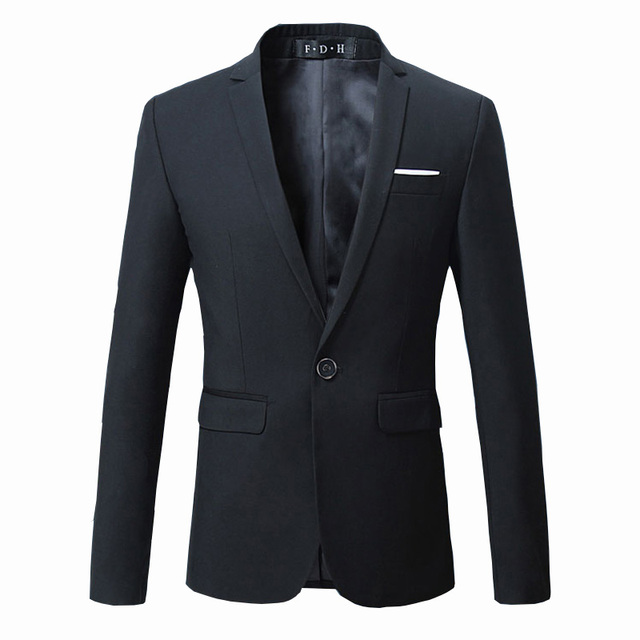 Free shipping 2016 Men's suit formal metrosexual slim fit blazers Solid color Wedding Groom Tuxedo Large size Black