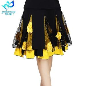Image 1 - Ladies Ballroom Dance Skirt Women Modern Standard Waltz Performance Skirt Stage Latin Salsa Rumba Elastic Waistband #2625 1