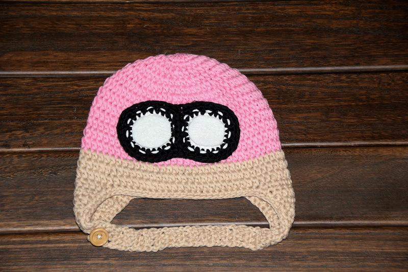Free Shipping 100 Cotton Crochet Baby Bomber Hat Crochet Bomber
