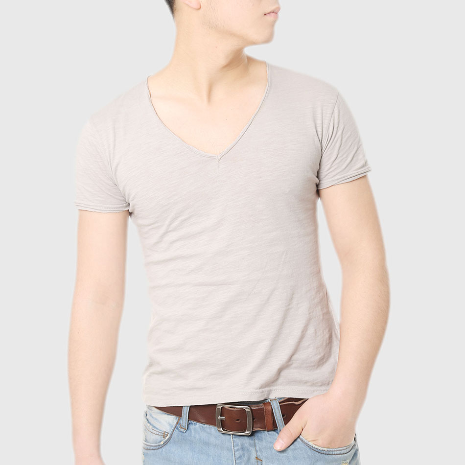 buy fashion deep v neck t shirt for men
