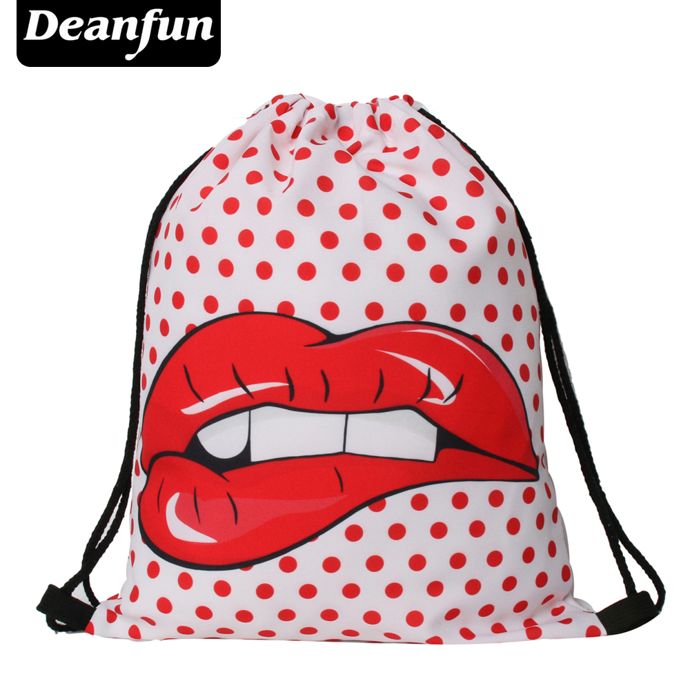 Deanfun 2016 new fashion backpack 3D printing travel softback man women harajuku drawstring bag mens backpacks S82