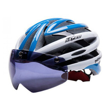 UV400 Goggles Motorcycle Bicycle Cycling Helmet Ultralight and Integrally-molded MTB Road helmet SIZE:58-62cm+Protective Gear