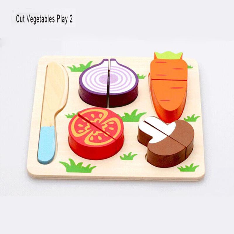 wooden toy kitchen cut fruits vegetables dessert kids cooking kitchen toy food pretend play puzzle educational