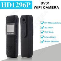 Free Shipping HD 1296P Novatek 96650 Pen Camera DVR Body Police Pocket Camera Loop Recording