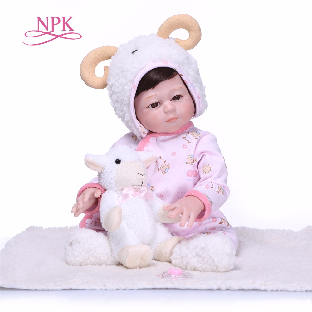 NPK Lifelike 50cm  Newborn Doll Can Bathe Full Silicone Vinyl Body Reborn Dolls Baby Princess BrinquedosNPK Lifelike 50cm  Newborn Doll Can Bathe Full Silicone Vinyl Body Reborn Dolls Baby Princess Brinquedos