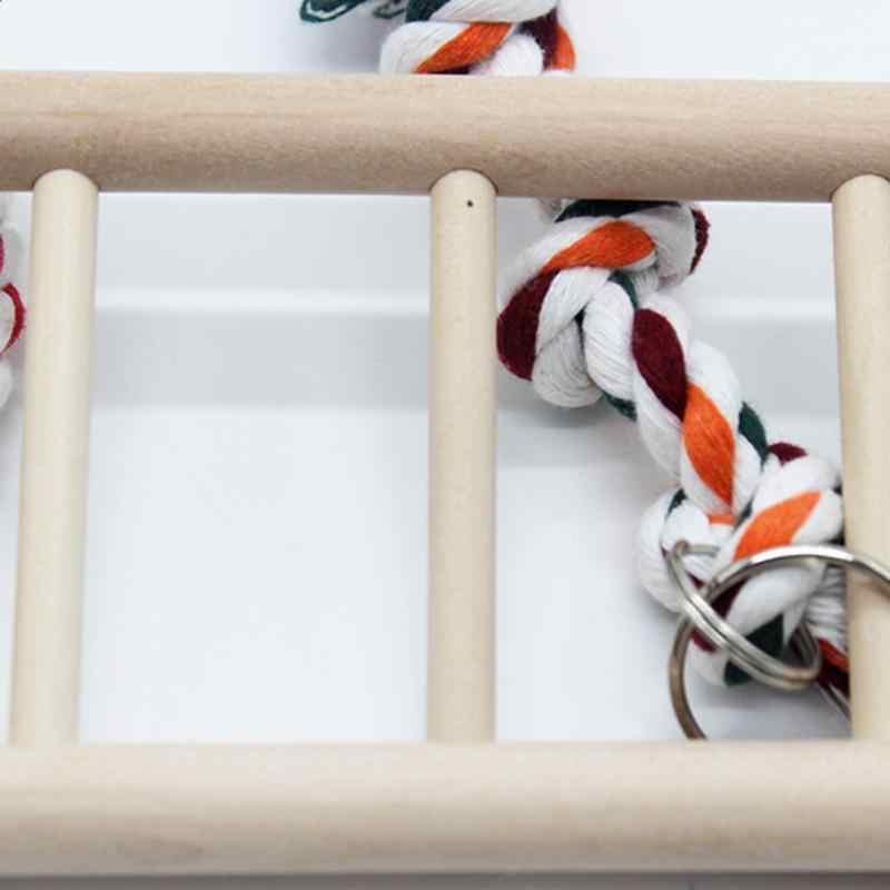 1PC Parrot Toys Parrot Climbing Net Hanging Ladder Bridge Macaw Cage Chew Decoration Bird Toys Pet Supplies