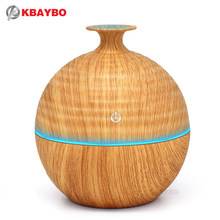 130ml USB Evaporative Air Humidifier Aroma Essential Oil Diffuser ไม้ grain Aromatherapy เครื่องทำ mist mist ที่มี 7 สี LED Light(China)