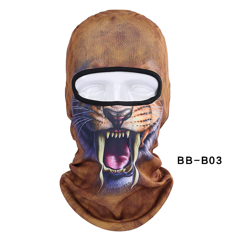 free shipping Unisex Animal Face 3D Print Ski Balaclava Full Face Cycling Mask Ski Mask