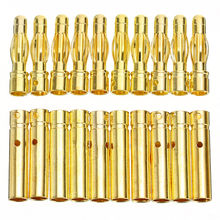 Electronic Connectors Gold-plated Plug 10 Pairs RC Battery Bullet Banana High Quality Durable Useful Practical цены