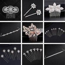 QYY Fashion Crystal Headpiece Wedding Bridal Hair Accessories Pin Jewelry Rhinestone Clips for Women