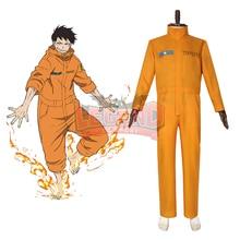 Anime Fire Force Shinra Kusakabe cosplay Akiratu Oubi Maki Ose cosplay costume Outfit Halloween costume custom made custom made fire emblem if hinata cosplay costume