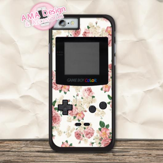 Vintage Pink Floral Game Controller Cover Case For iPhone X 8 7 6 6s Plus 5 5s SE 5c 4 4s For iPod Touch