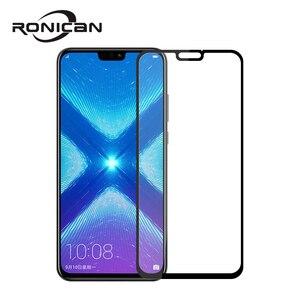 Huawei honor 8X الزجاج المقسى الأصلي RONICAN كامل غطاء واقي للشاشة ل huawei honor 8x الزجاج المقسى طبقة رقيقة واقية