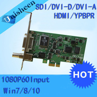 PCI E XPRESS HDการ์ดจับภาพวิดีโอ1080จุด-SDI/HDMI/DVI/VGA/ส่วนประกอบ