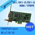 PCI Express HD placa de Captura de Vídeo 1080 p-SDI/HDMI/DVI/VGA/Componente TV Tuners/placa de Captura de vídeo (PEXHDCAP)