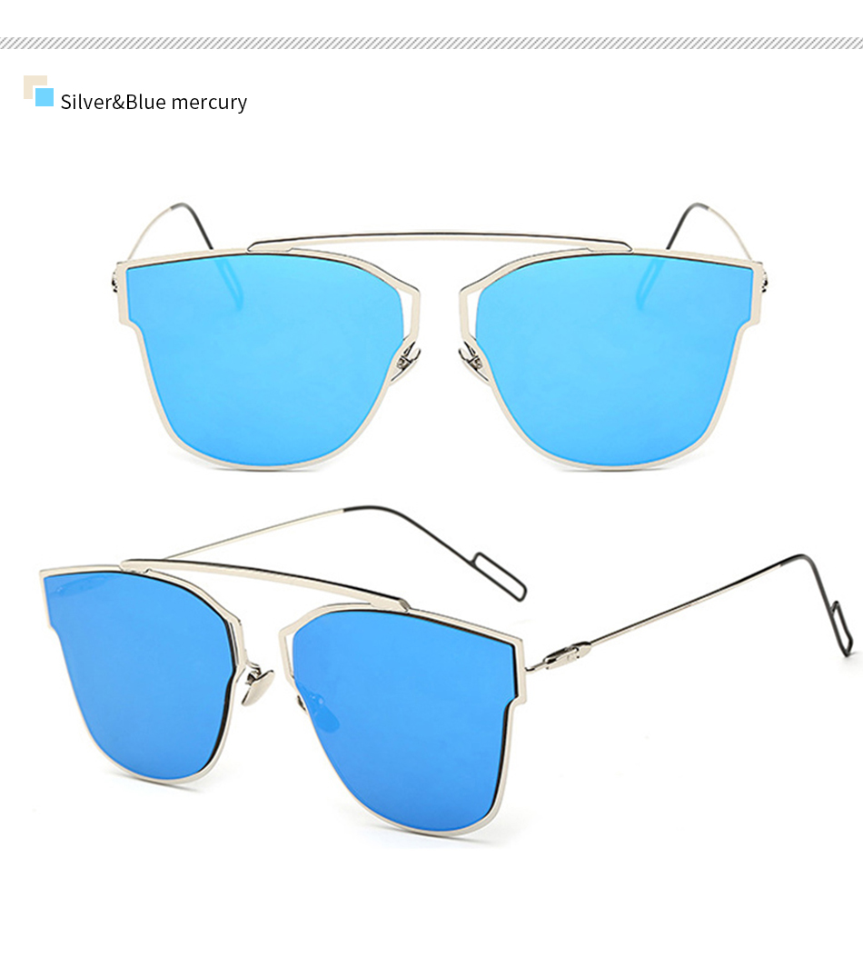 New 2018 Summer Style Sunglasses Women Sun glasses Brand Designer Mirror Lens Glasses Female MZ451-500 Oculos Gafas