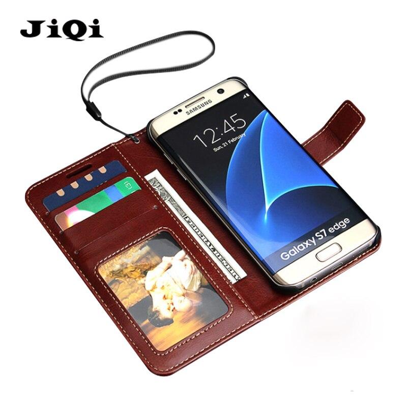bilder für Brieftasche Halter Flip-Cover Für Samsung Galaxy S7 S7 Rand fall mit Kartensteckplätze Schutzhülle Hochwertige Luxus-echtes leder