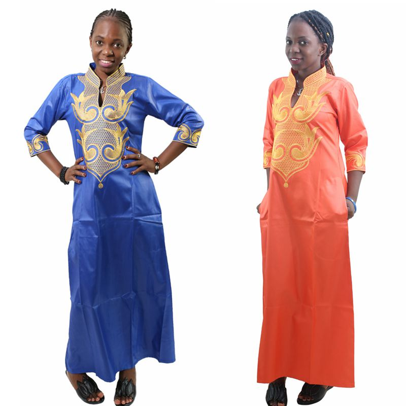 H D 2018 All Dashiki African Cotton Dresses Top Bazin dress for women African Traditional Private