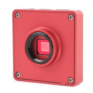 Image 4 - 1080p 37MP hdmi usb工業用ラボデジタルビデオ顕微鏡カメラ + 200X 500X 130X cマウントレンズ + 56 ledリングライト