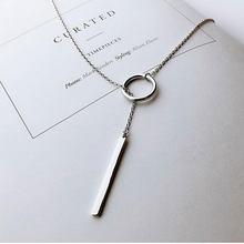 ANENJERY offre spéciale cercle bande longue chaîne collier collares kolye bijoux femme collier ras du cou S-N51